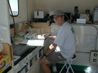 USGS Scientist in the lab
