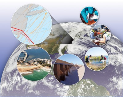 Photo Montage of USGS Hurricane Sandy Work