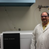 Dr. Keith A. Loftin in a laboratory