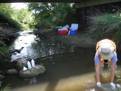 Prior water-quality sample colection from stream