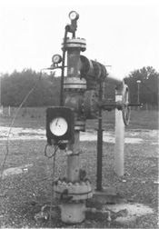 Surface features of a typical injection well in Florida (taken from USGS Water-Supply Paper 2281)