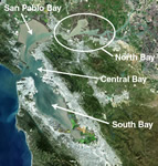 San Francisco Bay, California, consists of several subembayments. North Bay consists of Honker, Suisun, and Grizzly Bays