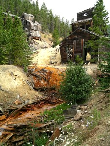 Abandoned mine site on Galena Creek, Montana - Barker mining district