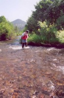 USGS Scientist in a stream
