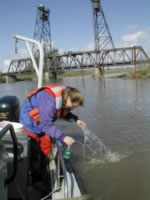 Water sampling to assess the transport of pesticides in the San Joaquin River, Calif.
