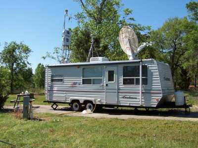USGS Mobile Atmospheric Mercury Laboratory trailer
